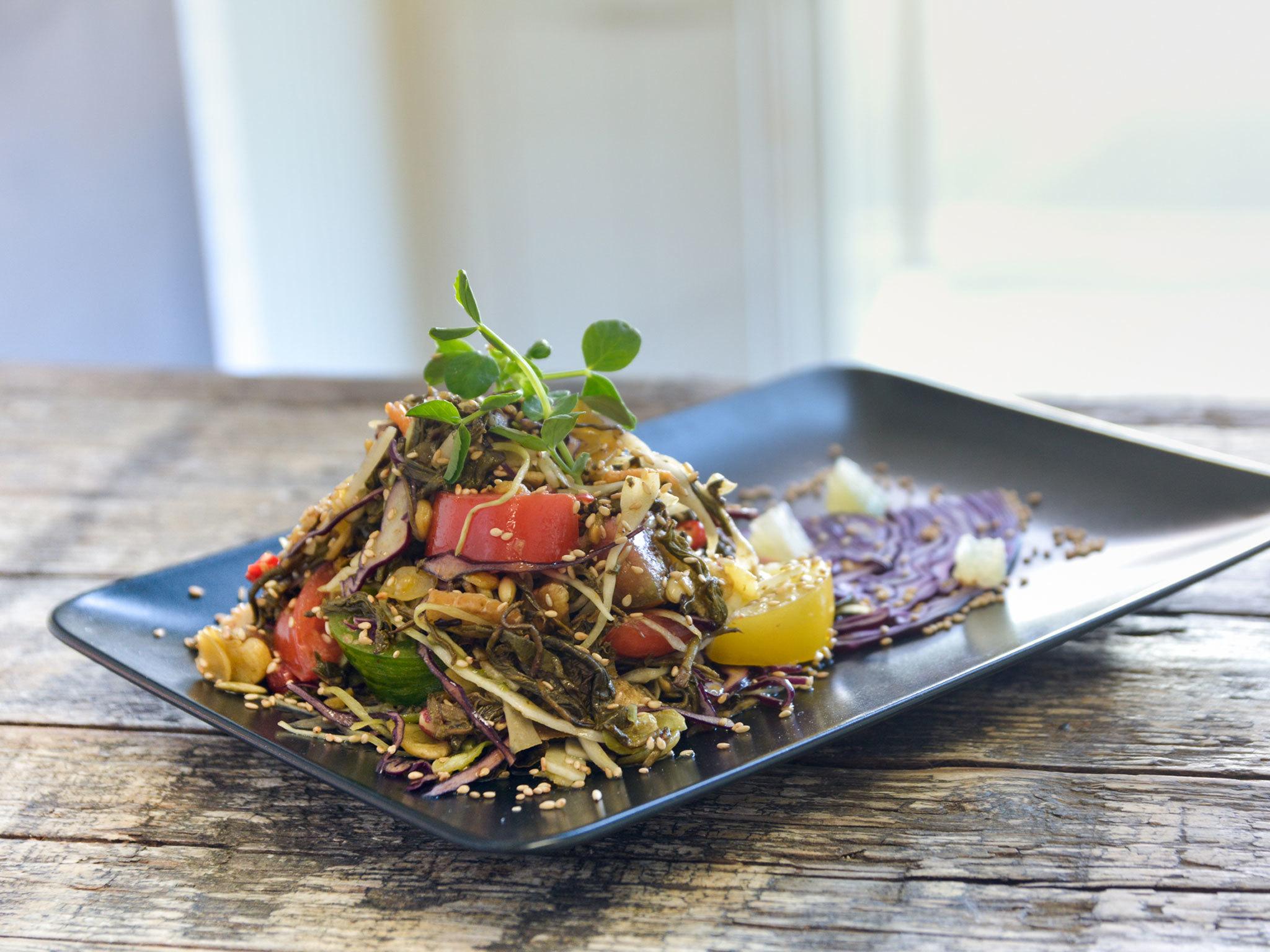 top 100 dishes - lahpet - tea leaf salad