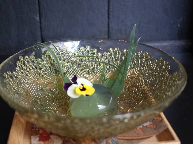 top 100 dishes - sakagura - raindrop cake