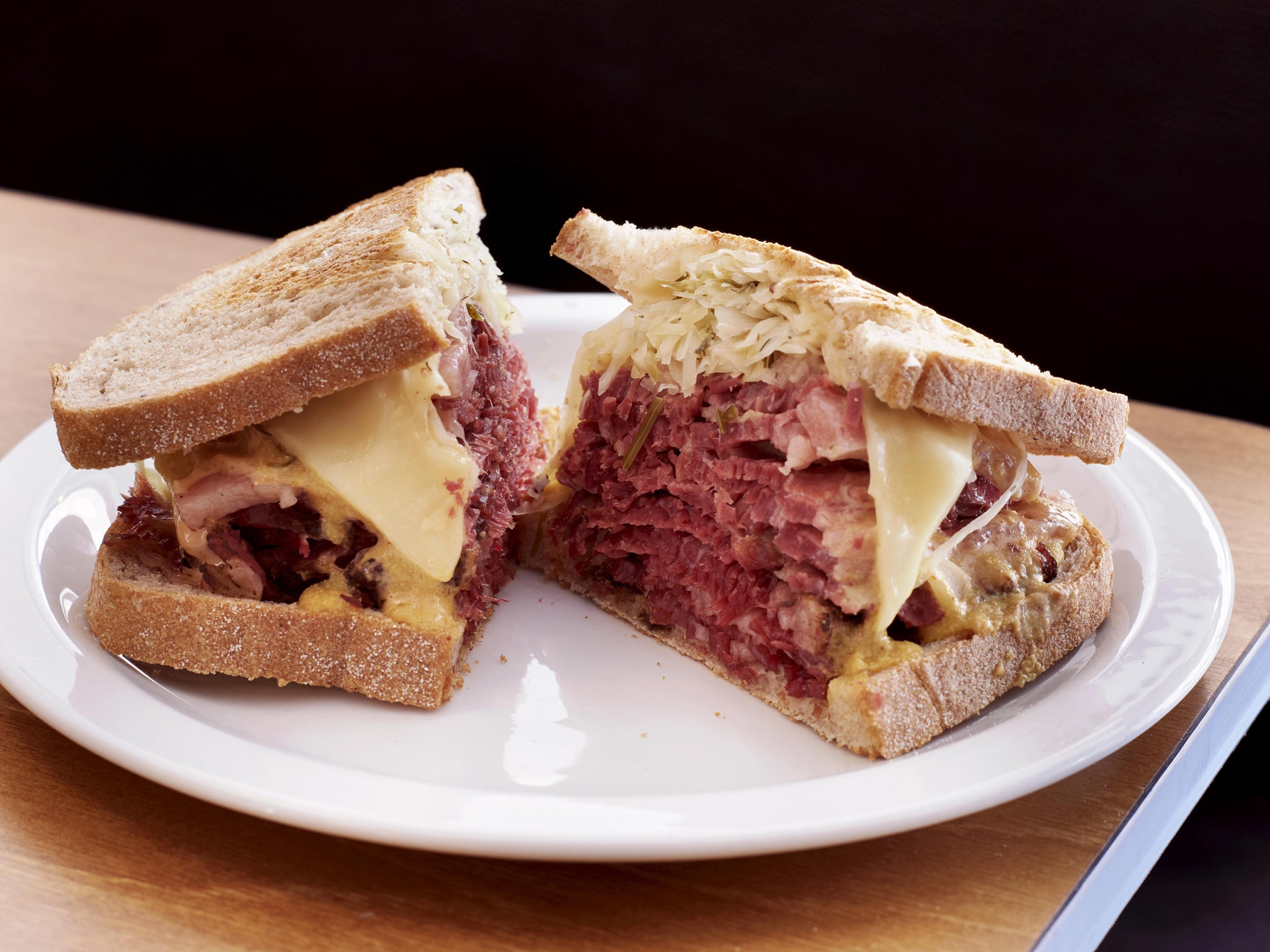 Reuben sandwich at Monty's Deli