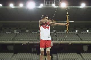 Play On - The Art of Sport 2017 Hazelhurst Regional Gallery supplied Shaun Gladwell The archer (after Chuang Tzu) 2014