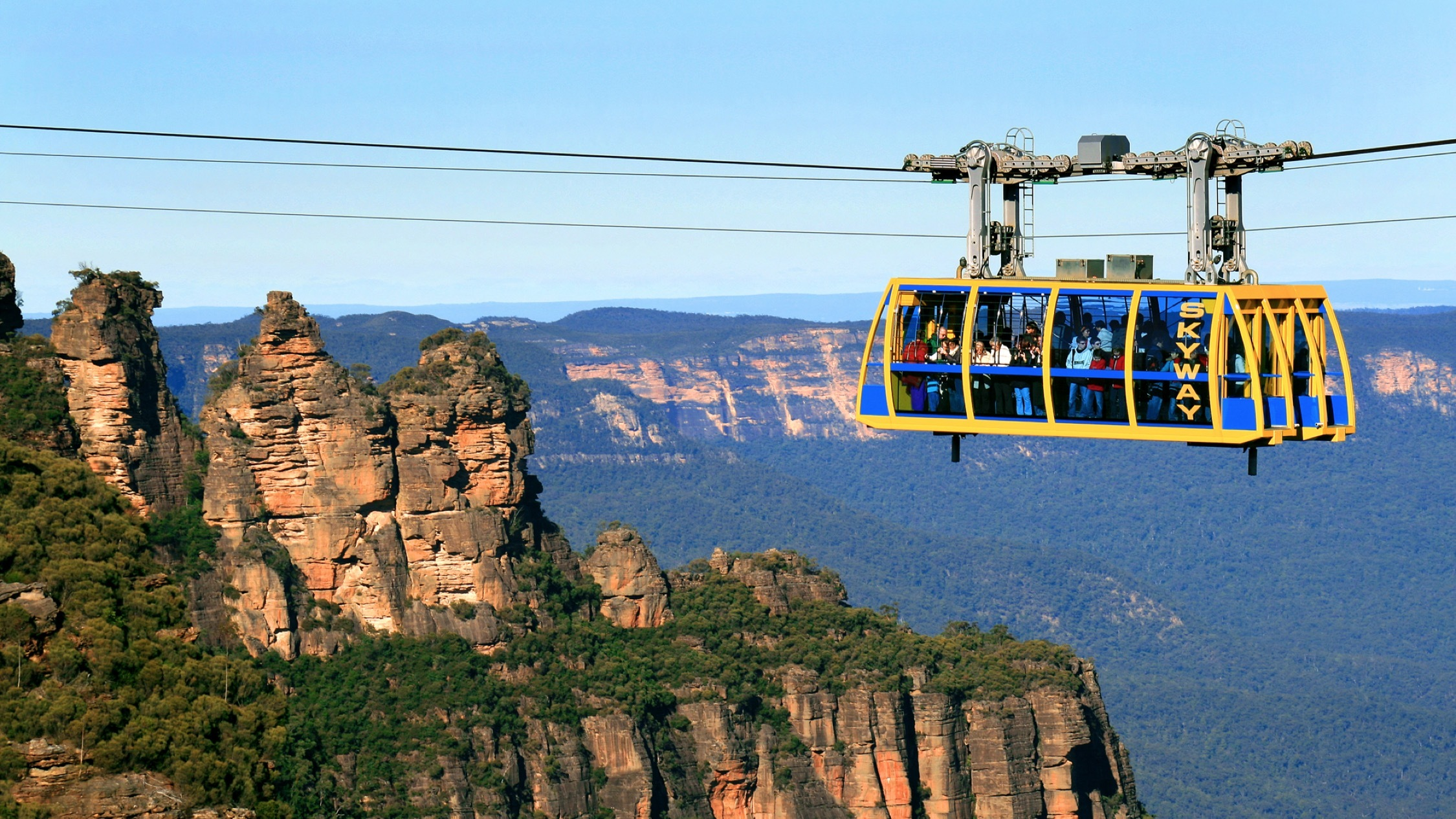 Cart above at Scenic World
