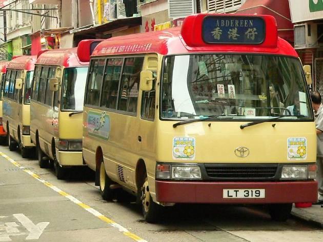 Red minibus
