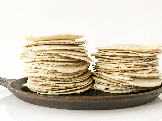 Tortillas from El Merkury, a Guatemalan pop-up restaurant in Philadelphia