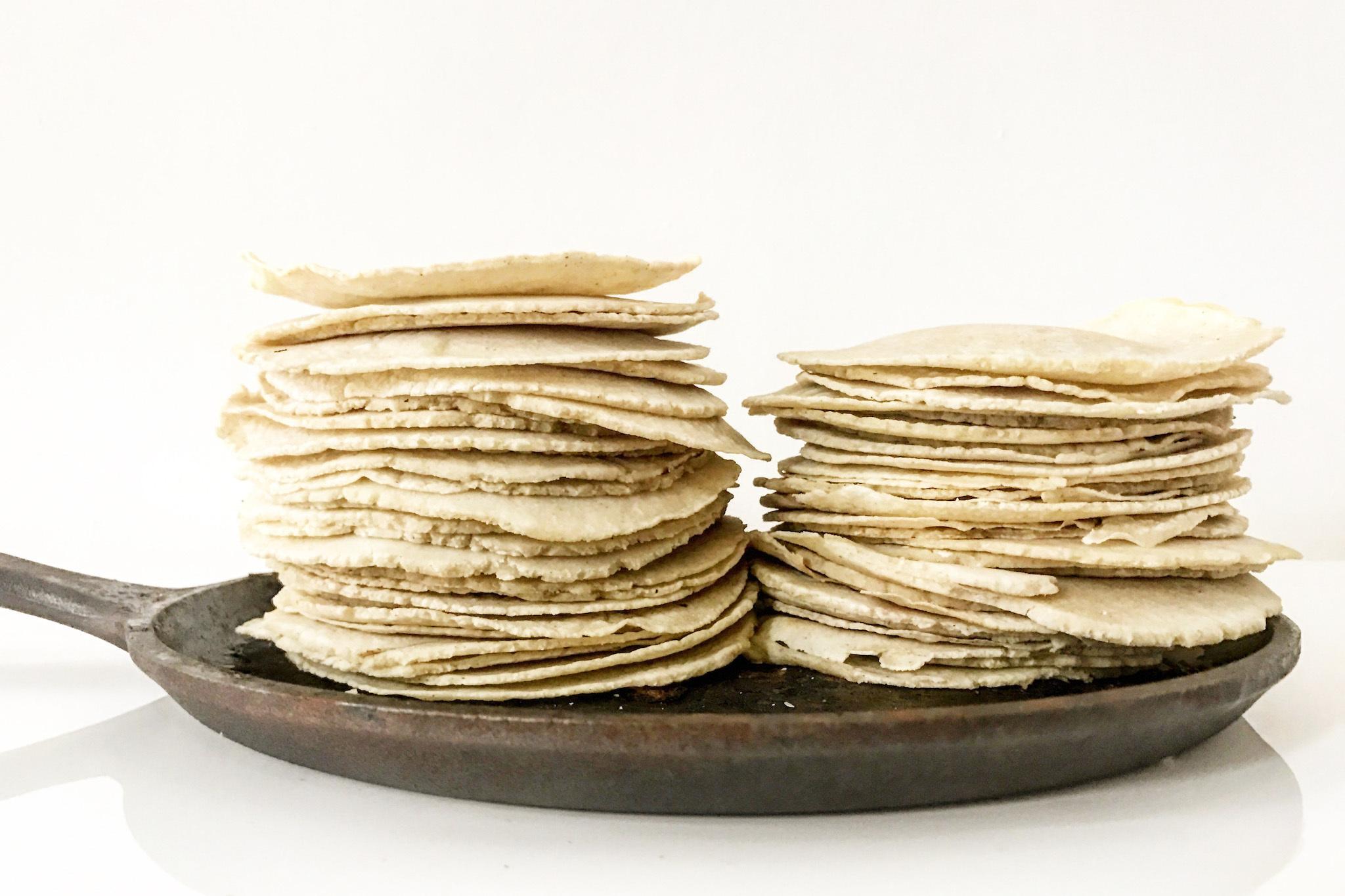 Tortillas from El Merkury, a Guatemalan pop-up restaurant in Philadelphia