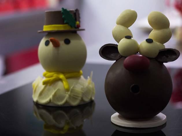 Muñecos de chocolate navideños