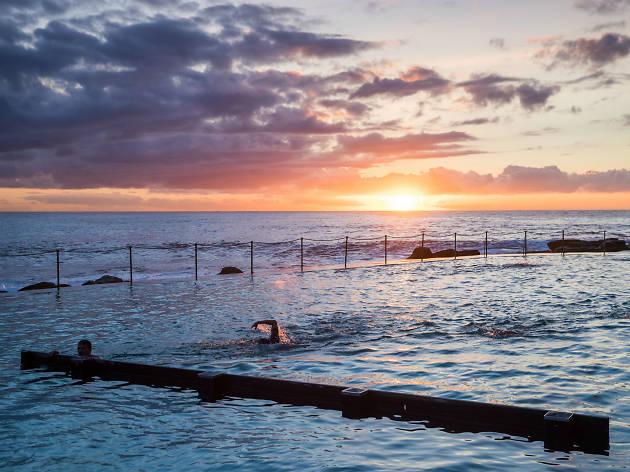 Sunrise at Bronte pool