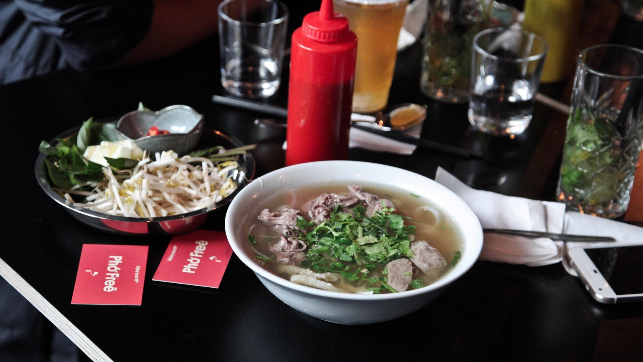Bowls of noodles at Twenty Pho Seven
