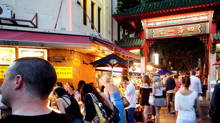 Sunset at Chinatown Night Market