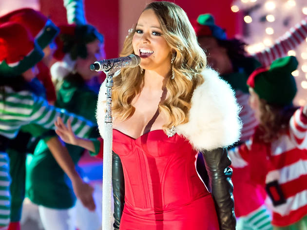 Mariah Carey at the 81st Annual Rockefeller Center Christmas Tree Lighting Ceremony, Getty 2013