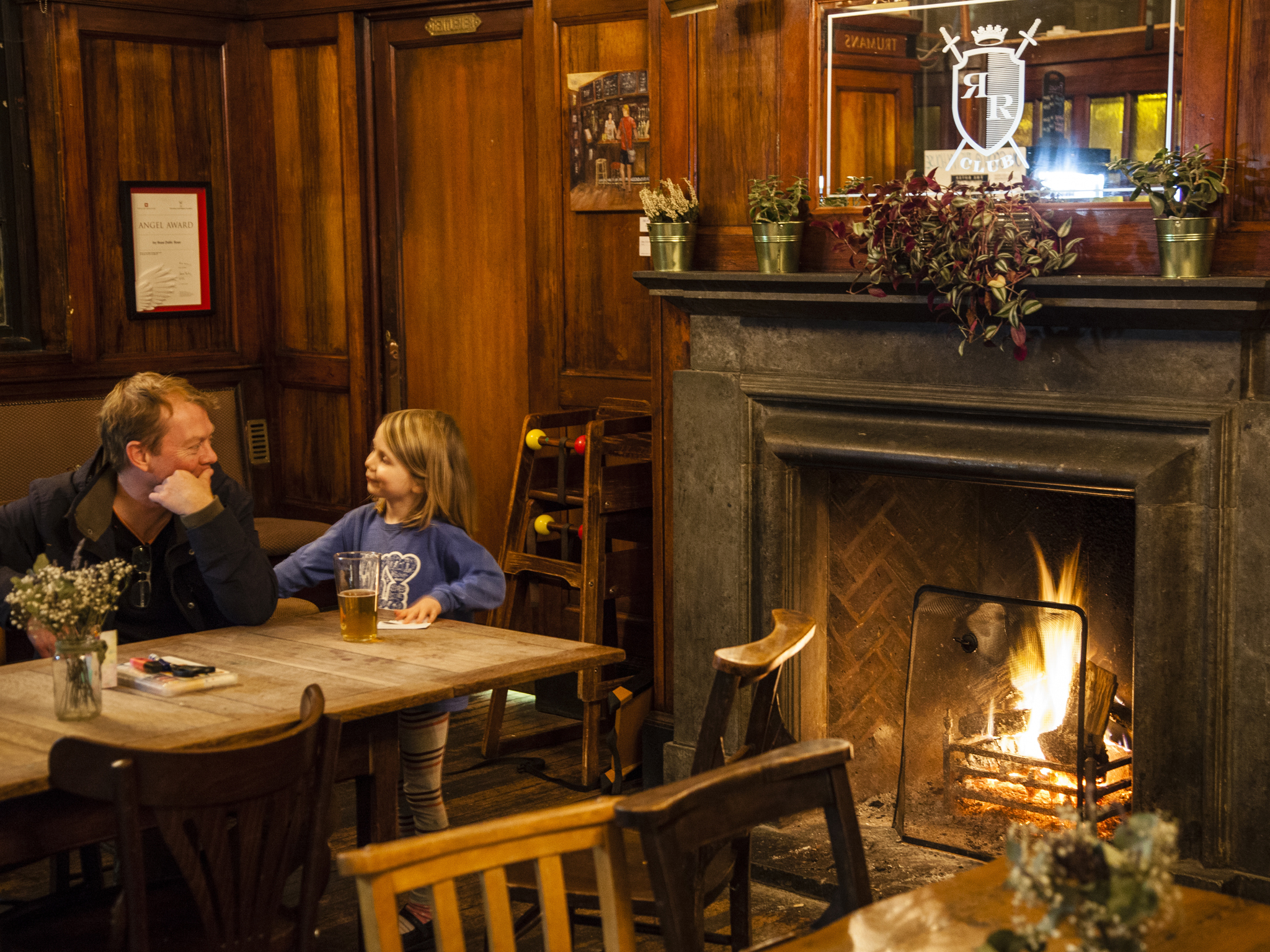 ivy house, pubs with fires