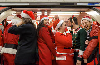 In pictures: Claus encounters of the Santacon kind