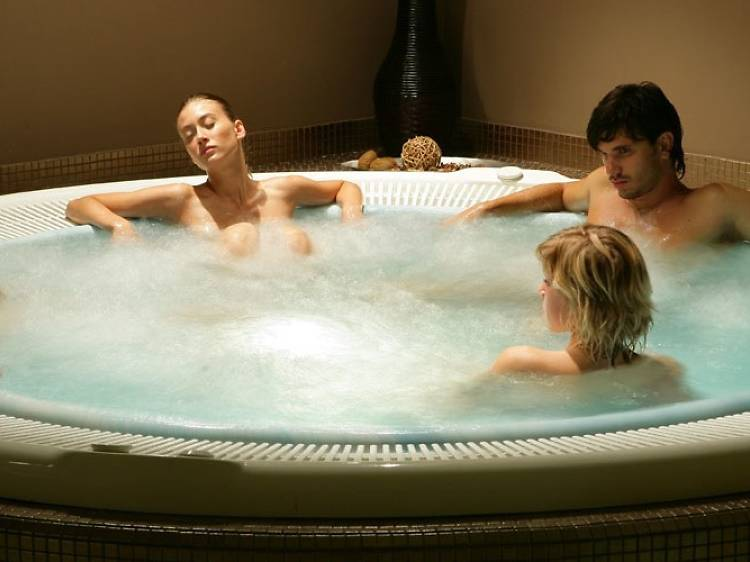 Visit an outdoor thermal spa