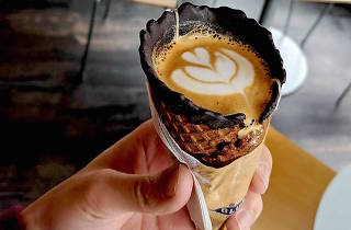 Get coffee in an ice cream cone at a new pop-up shop in NYC this week