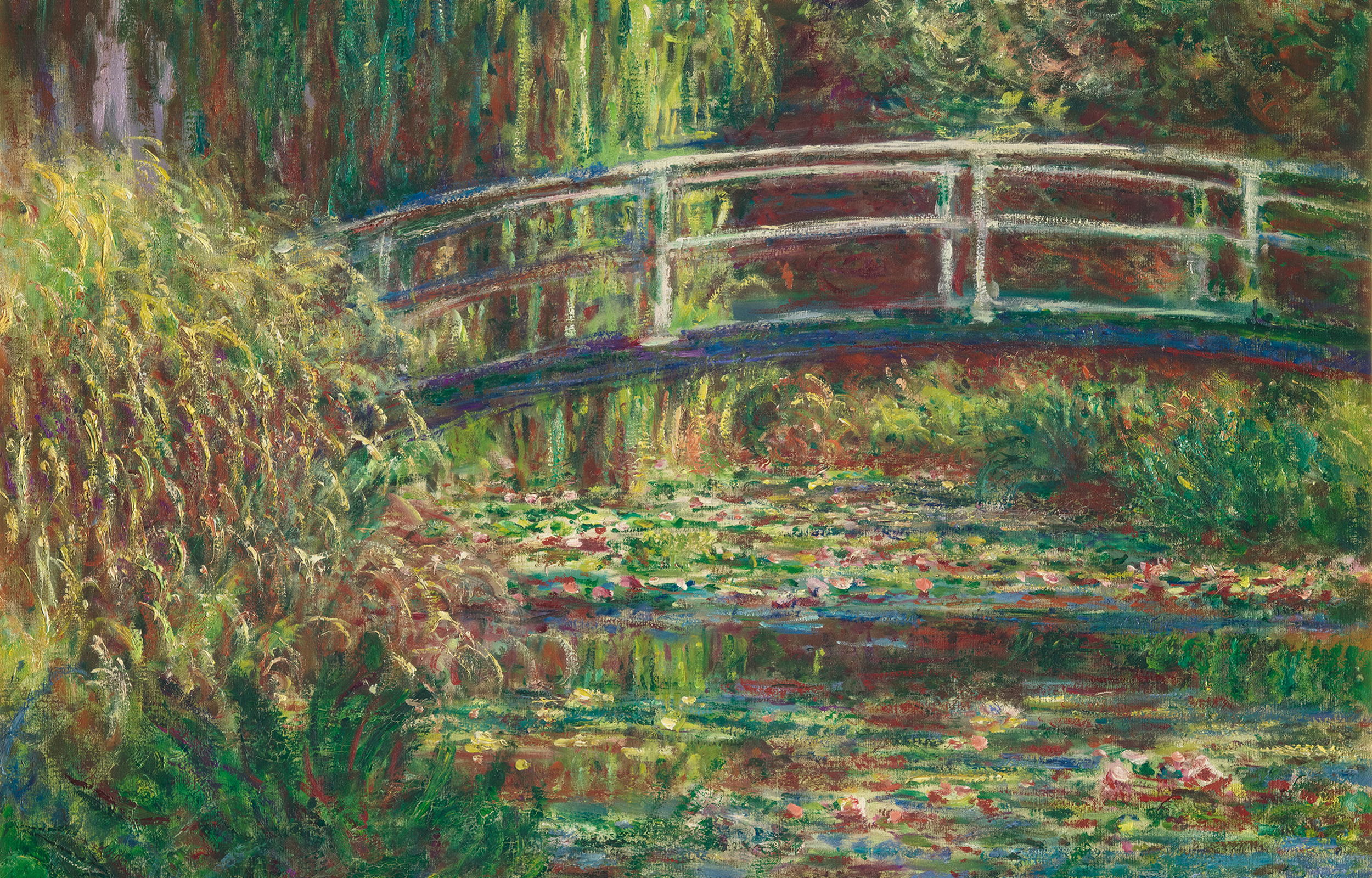 Monet's painting of water lilies and bridge