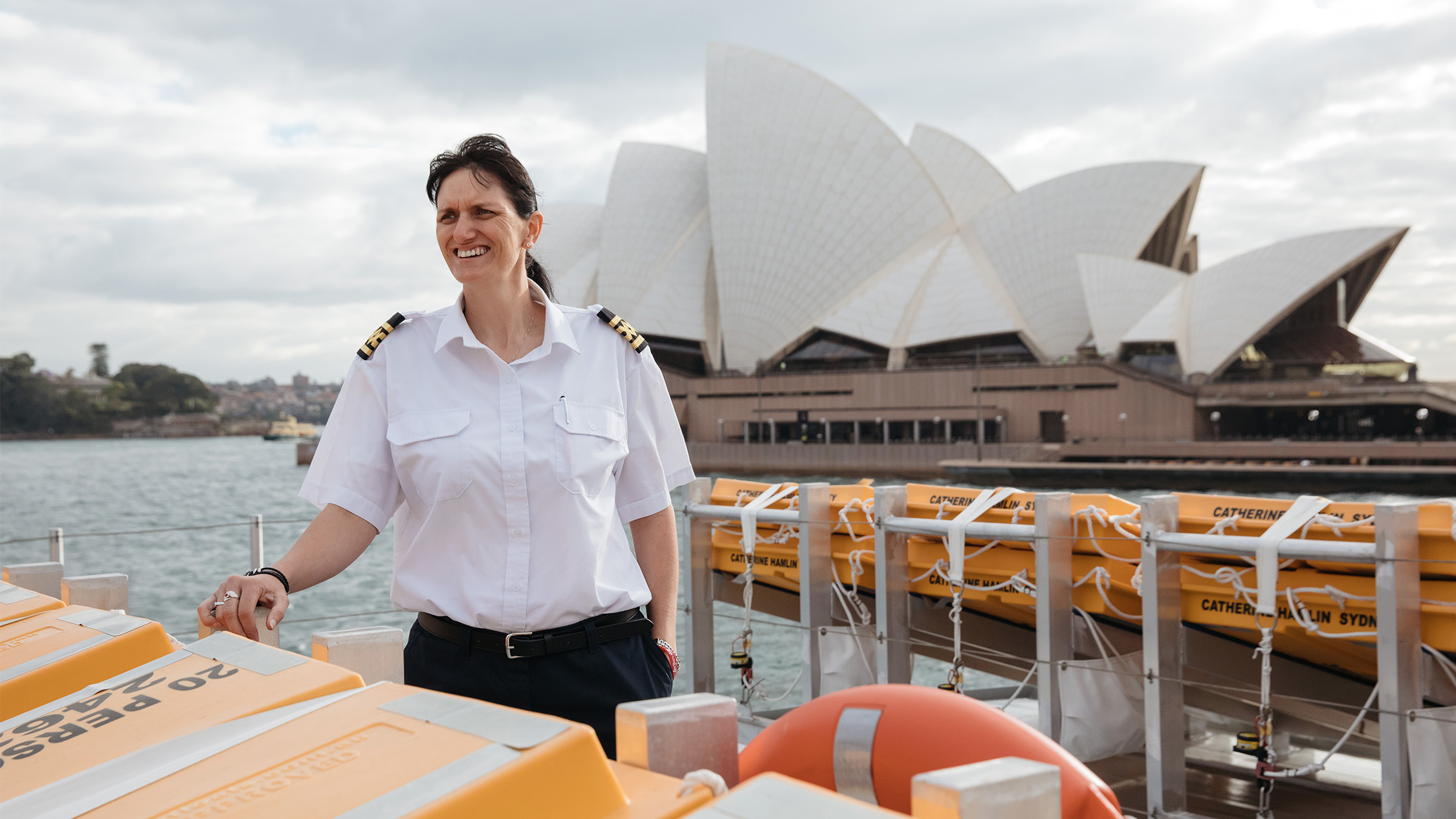 Kaye Baker the Ferry Master at Sydney Harbour