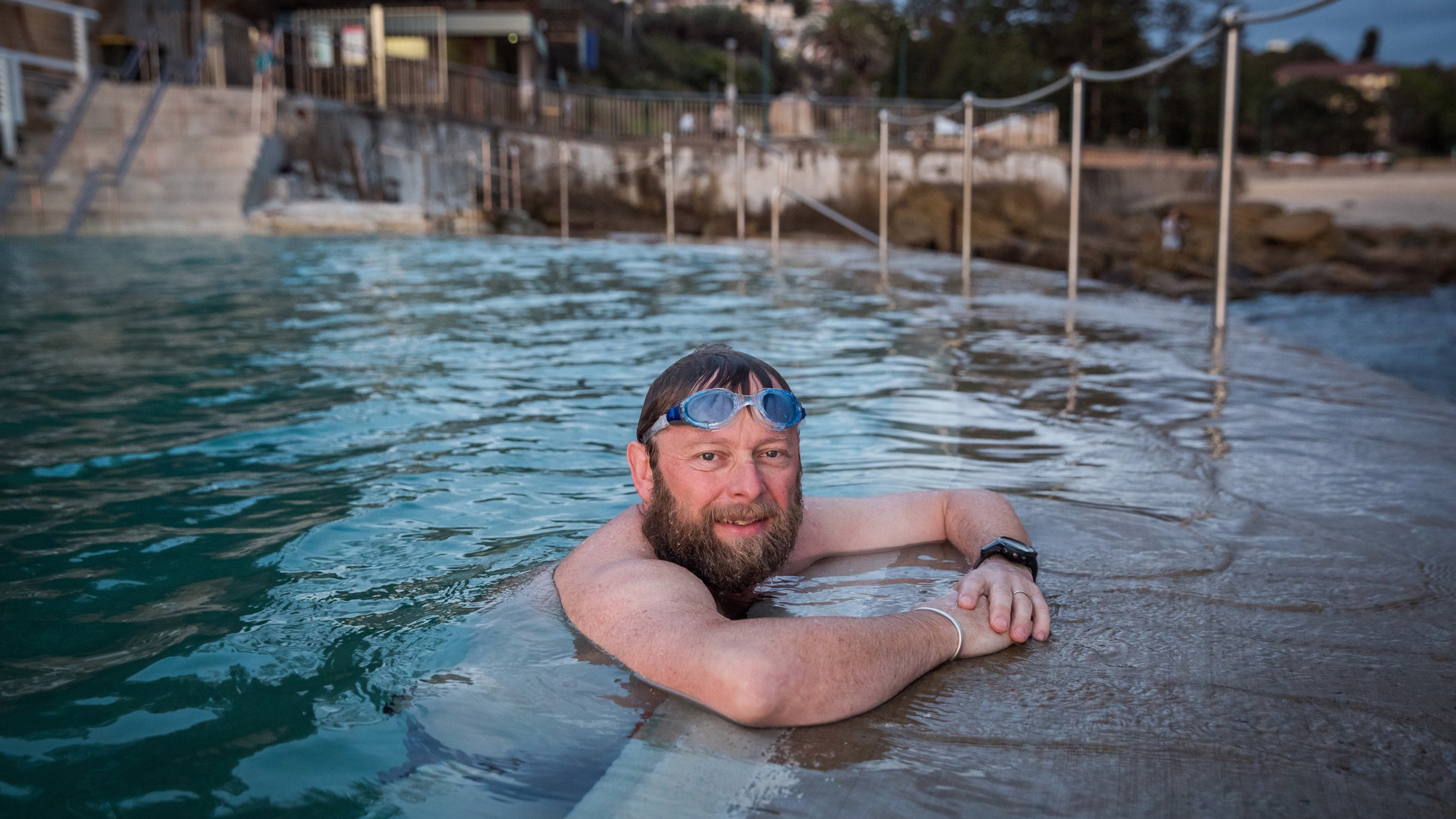 Cathal Murphy swimming at Bronte Pools
