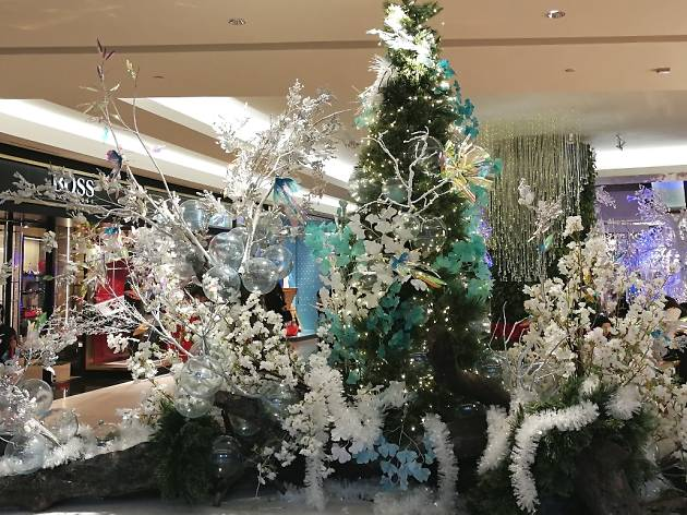 Christmas decorations at The Gardens Mall