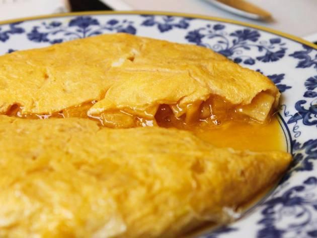 Tortilla de patata de la Taberna Pedraza
