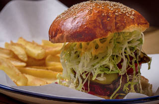 Burger at Agincourt Hotel