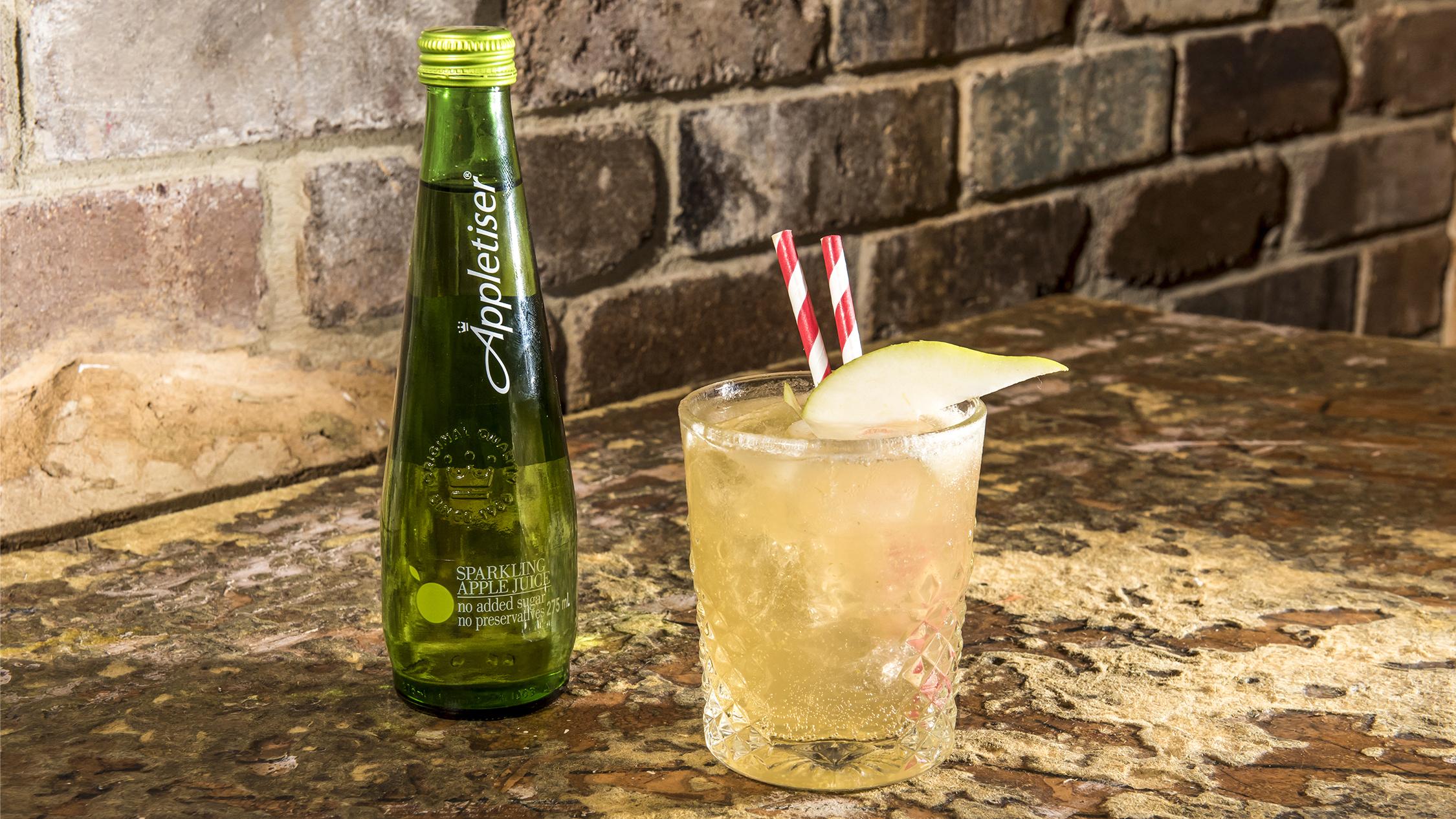 Appletiser cocktail at Soda Factory