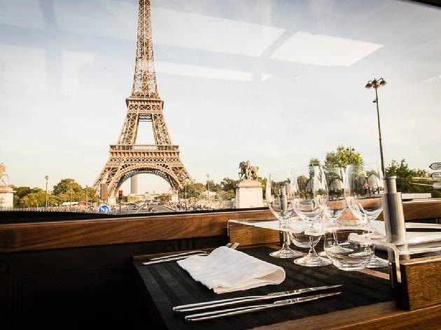 Paris food tours- Luxury bus dining