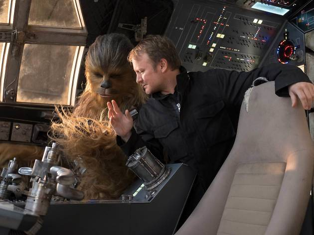 Rian Johnson no set star wars