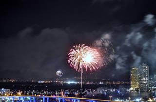 Downtown Miami fireworks