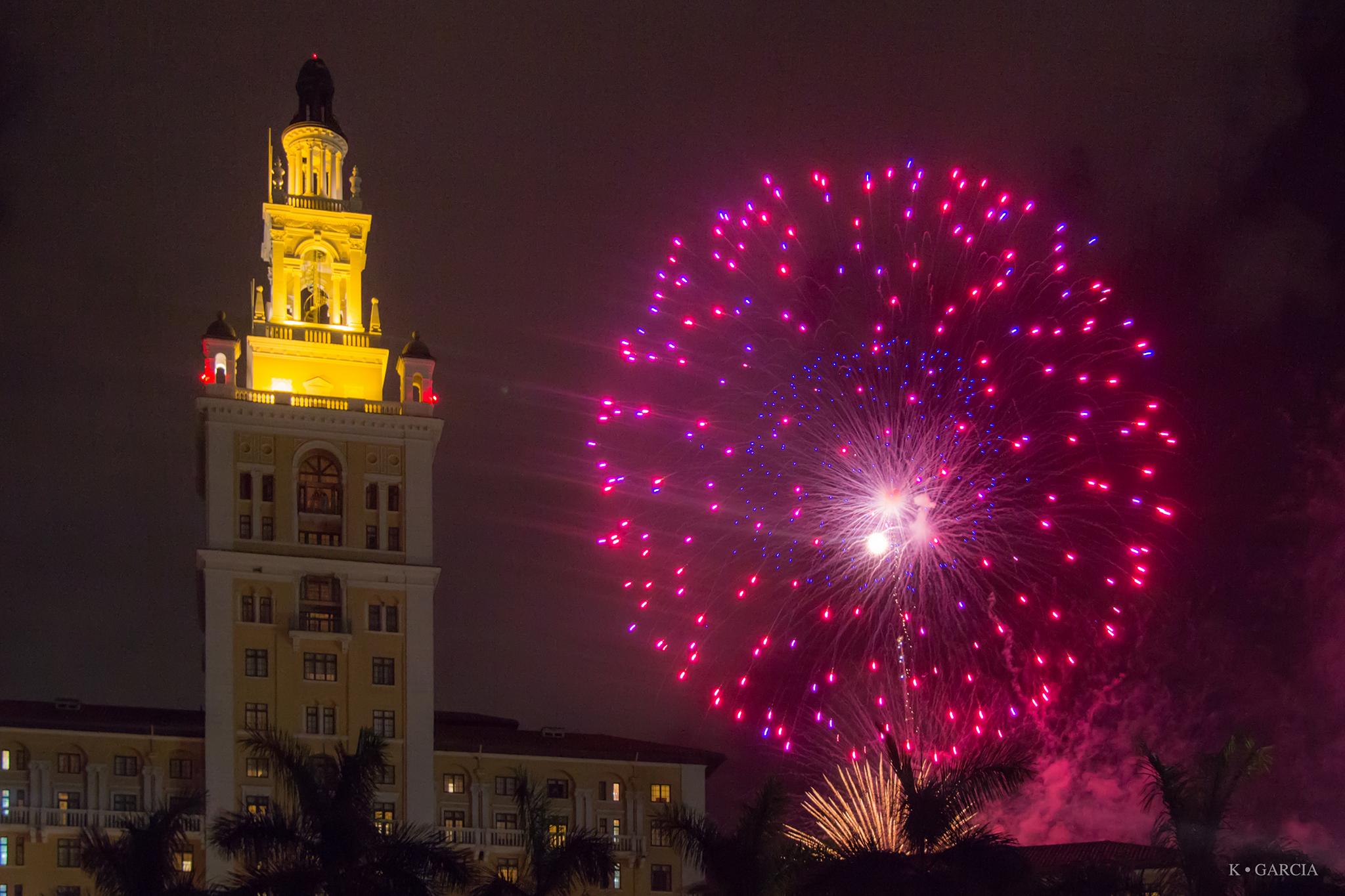 Fireworks at Biltmore Hotel