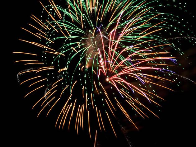 Yacht fireworks