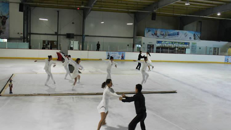 El cascanueces, danza y patinaje sobre hielo