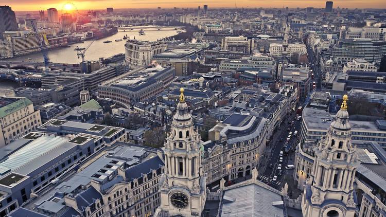 London skyline from St Paul's