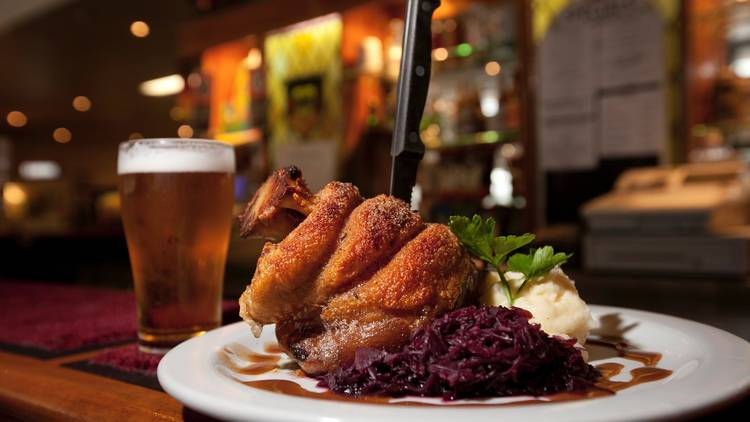 Chicken meal and beer at Concordia Club