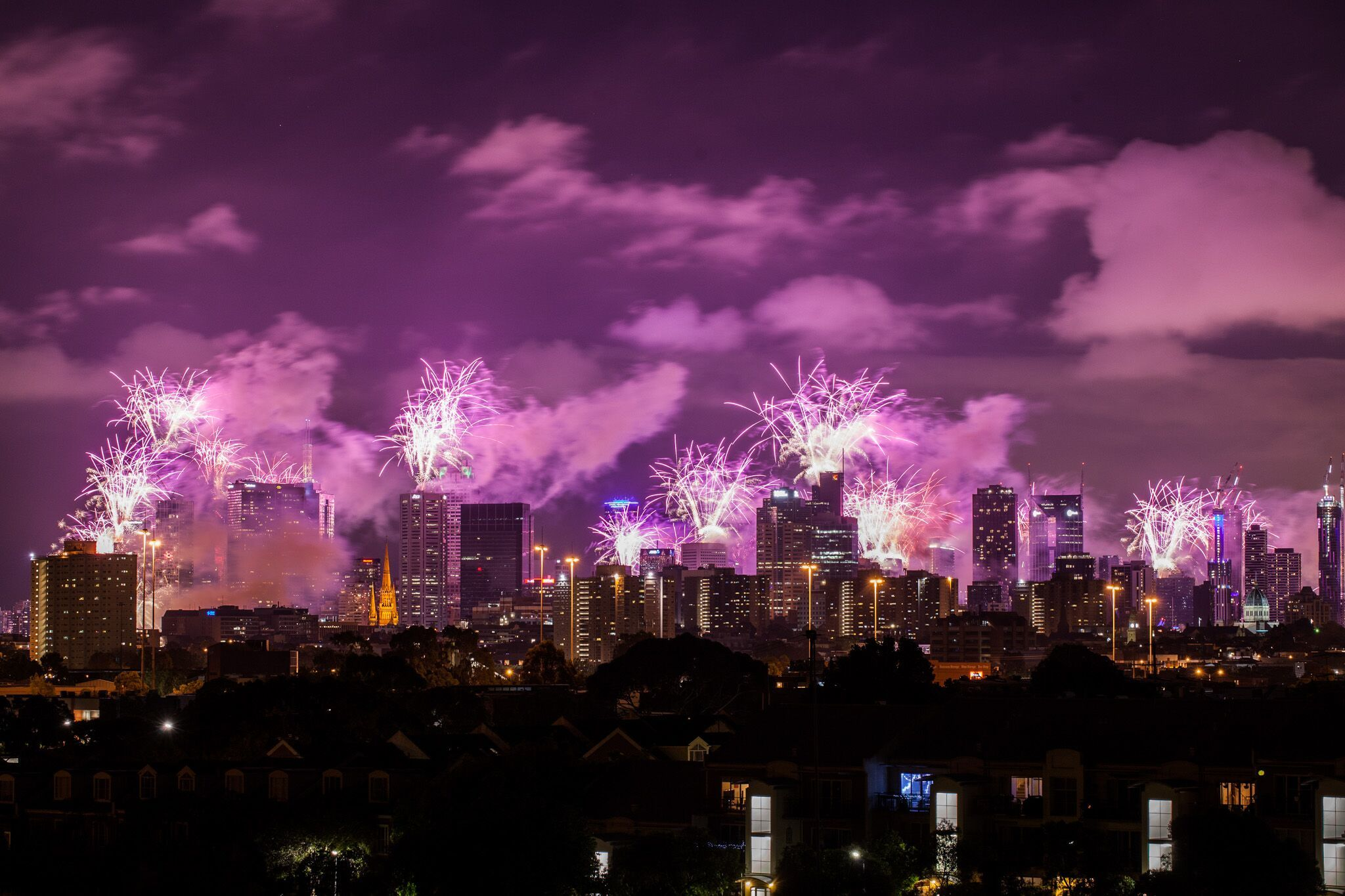 Melbourne fireworks - City of Melbourne