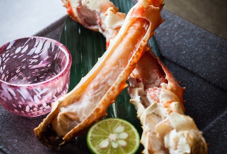 King Crab with Vinegar and Sudachi Lime, Kyuu by Shunsui