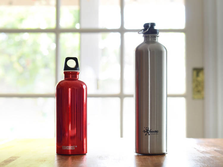 An insulated water bottle
