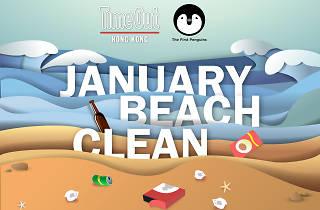 Time Out x First Penguins 一月沙灘清潔
