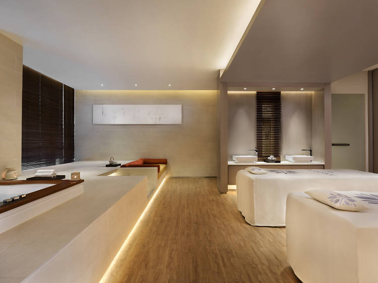 Get pampered with a pure gold body scrub and massage