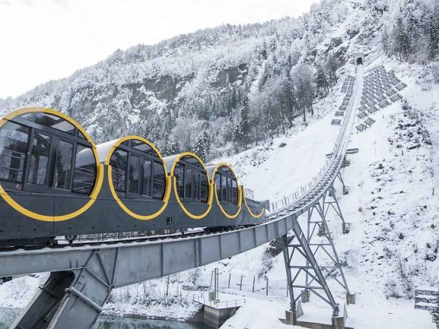 World's steepest funicular railway opens in Stoos
