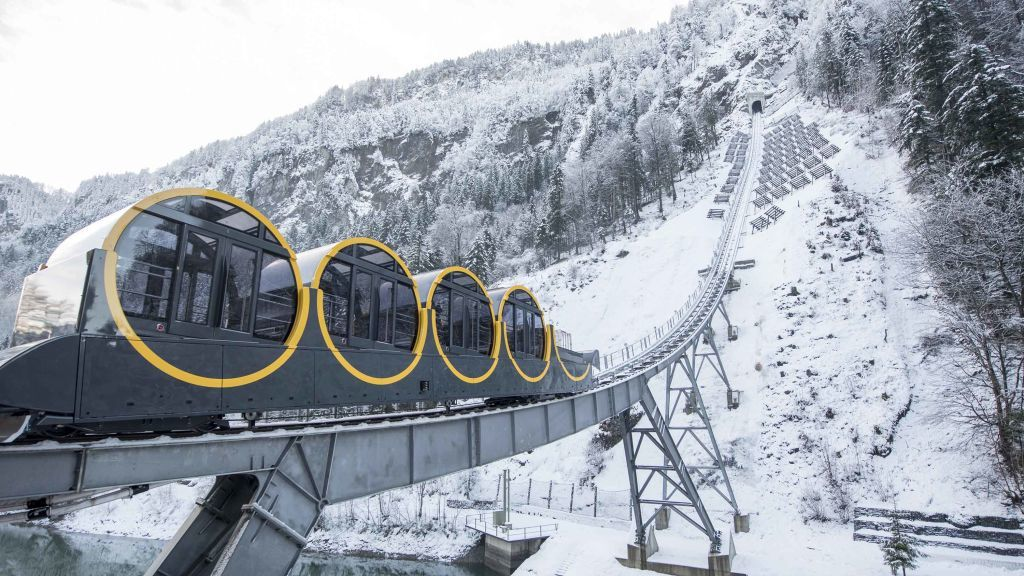 World's Steepest Funicular Railway - Stoos