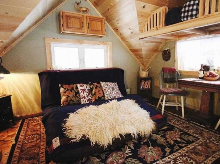 Marshfield, VT: The tiny cabin with a sauna