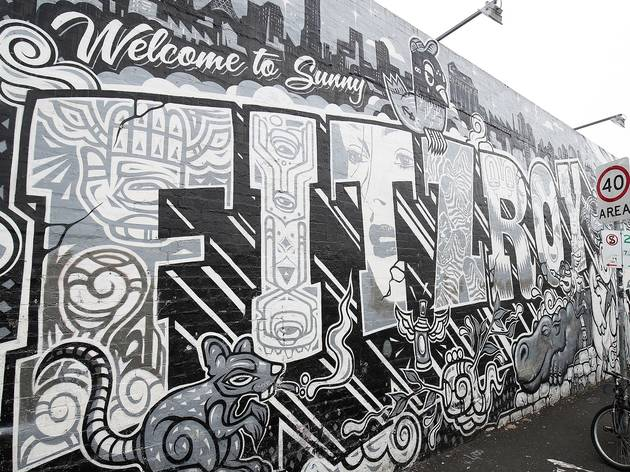 at Everfresh Fitzroy Mural