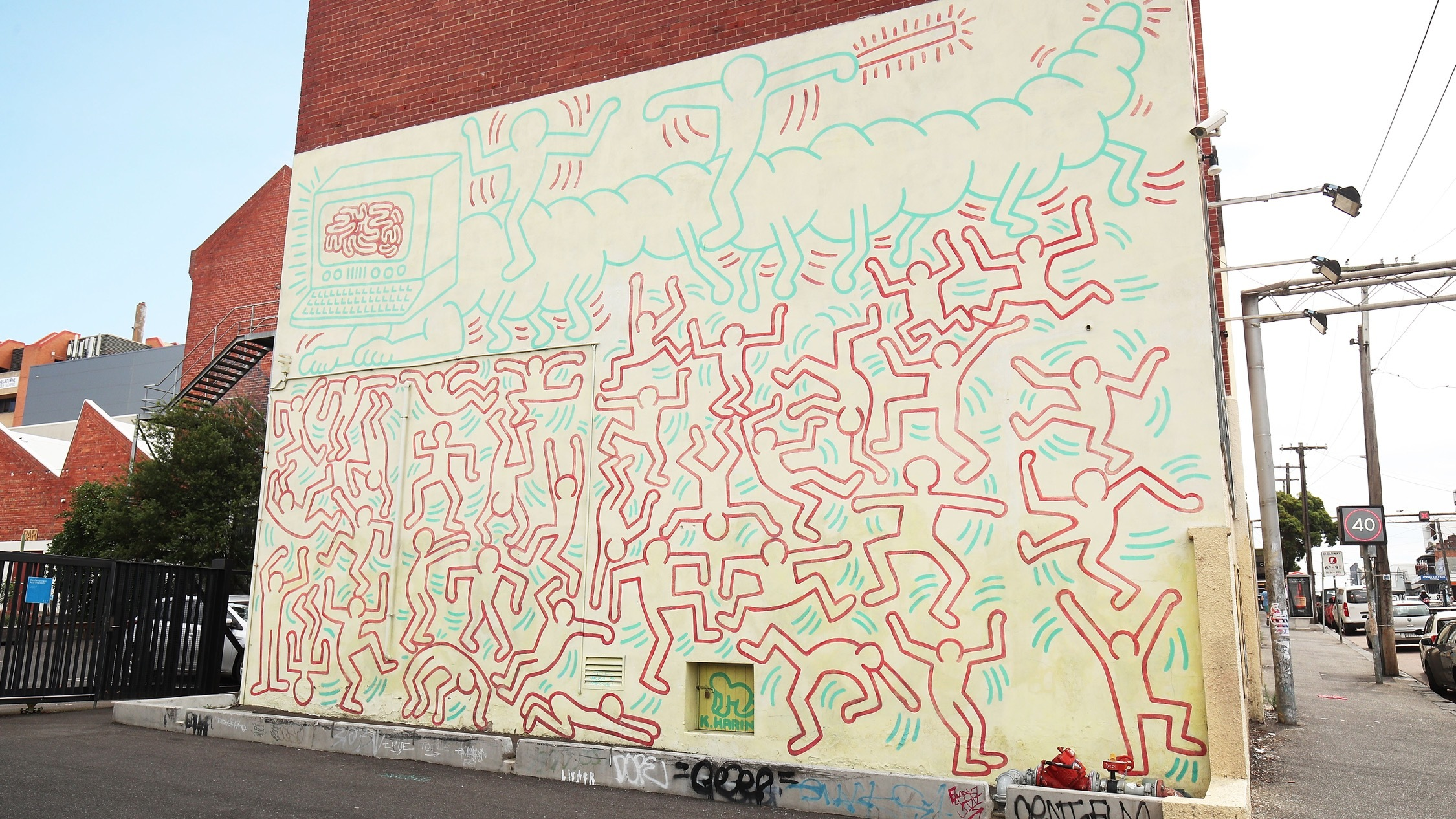 At keith haring mural melbourne
