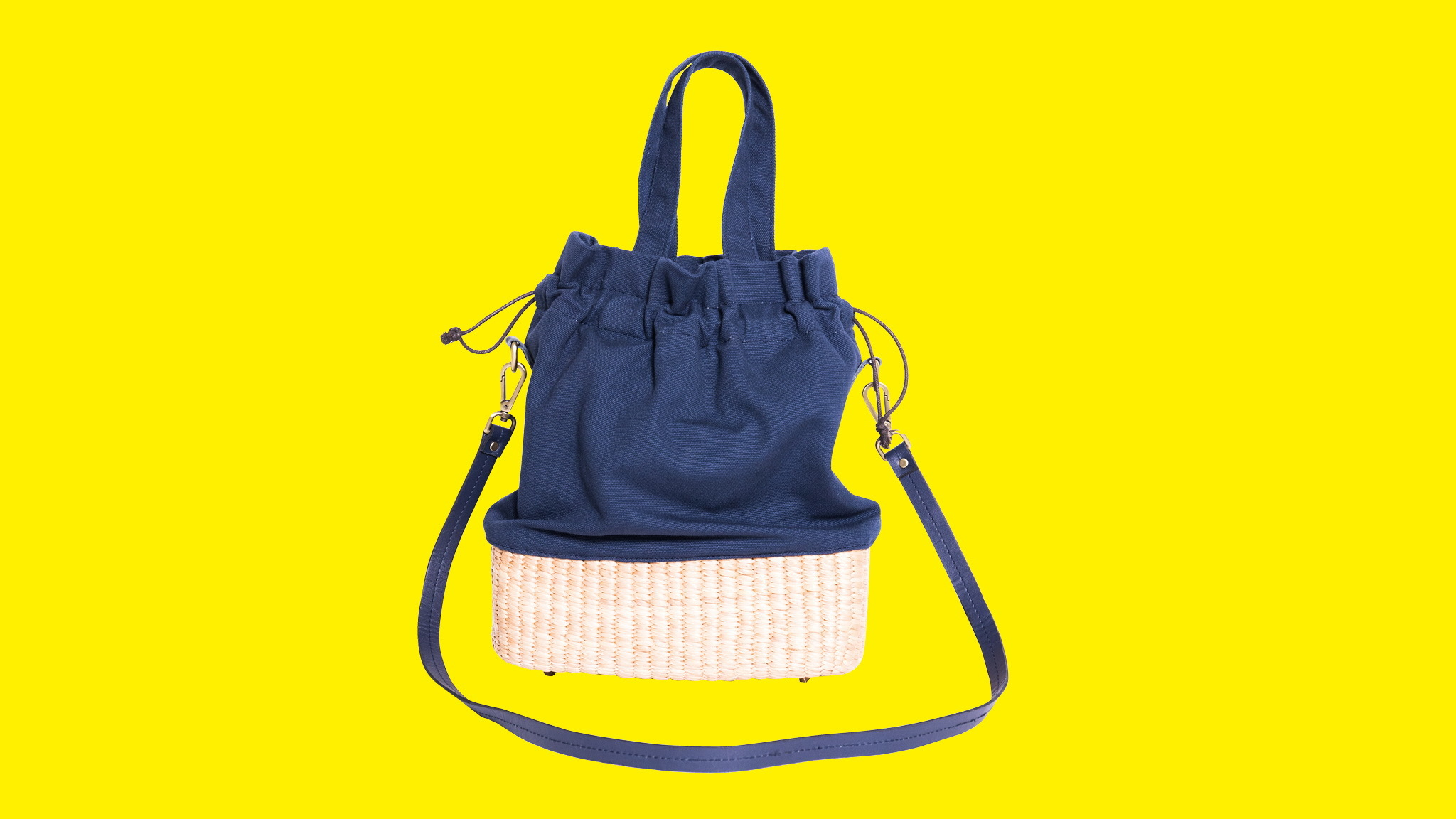 Gift Guide, Straw and cotton handbag, VT Thai, Ecotopia