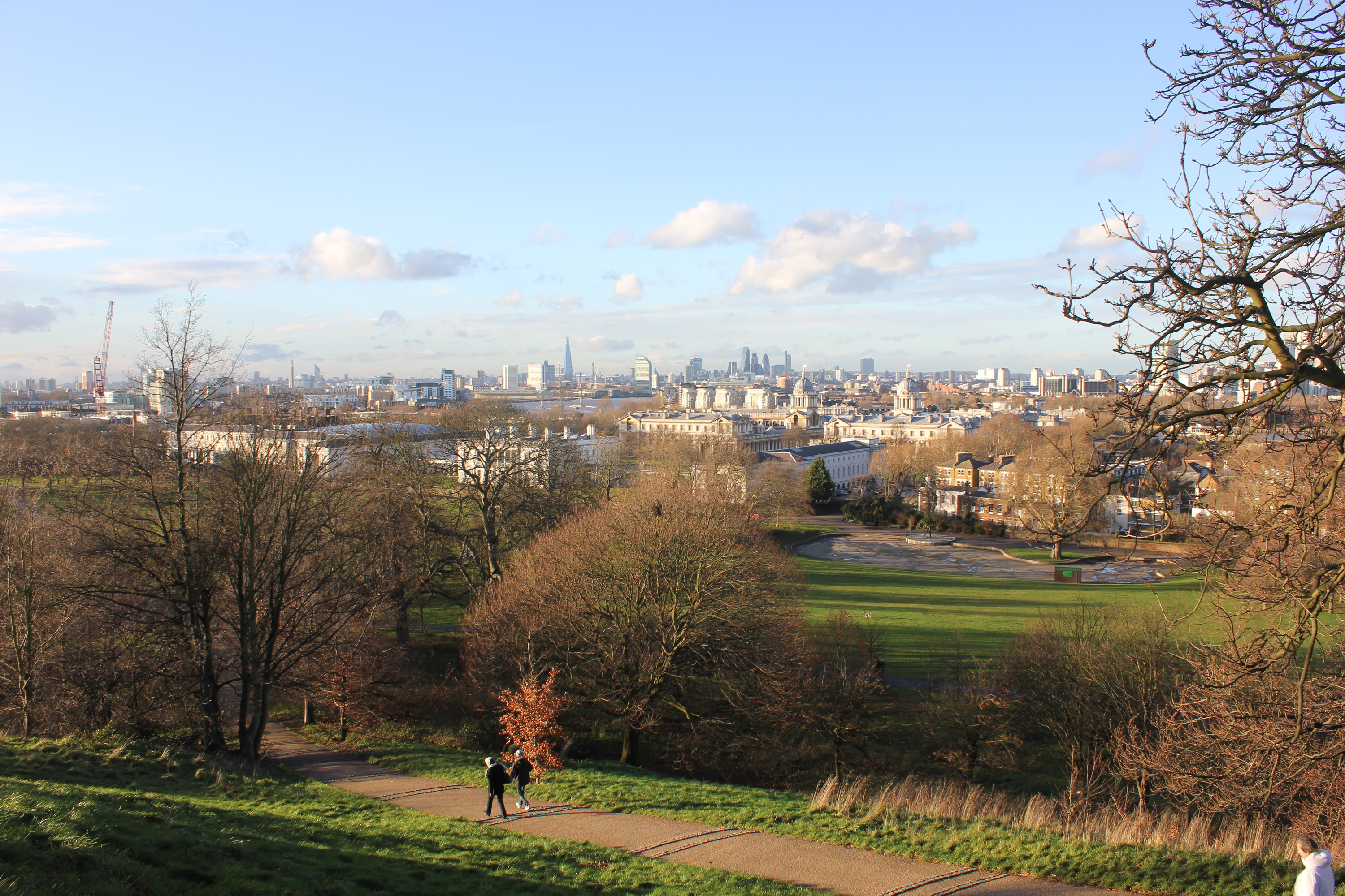 Greenwich Park in the winter