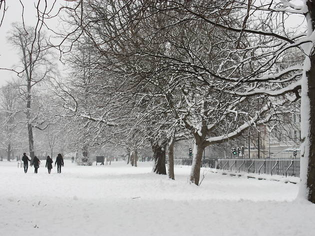Kensington Gardens in the snow