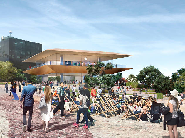 Apple flagship store plan for Federation Square