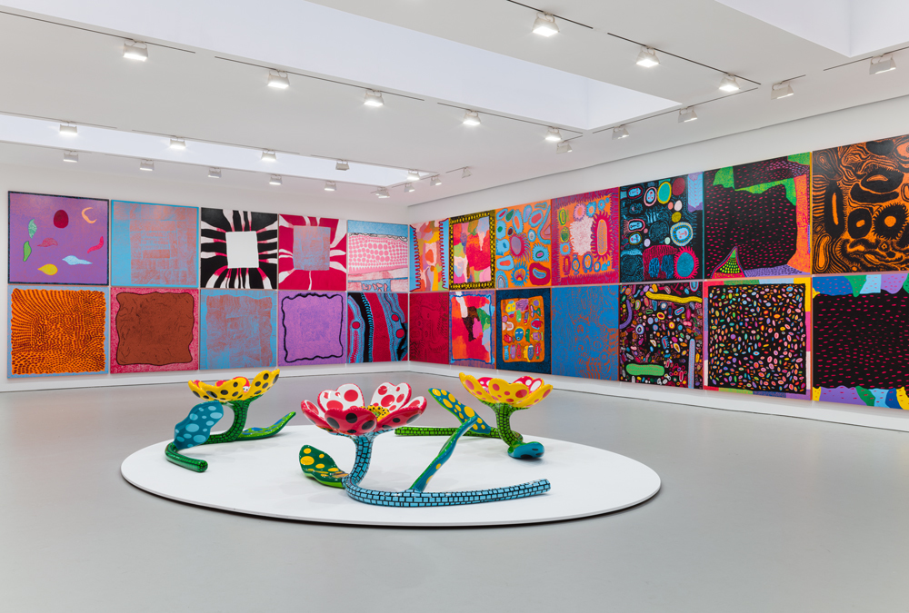 "Installation view, ""Yayoi Kusama: Festival of Life"""