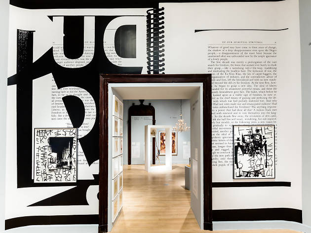 """Installation view of """"The Arcades: Contemporary Art and Walter Benjamin"""""""