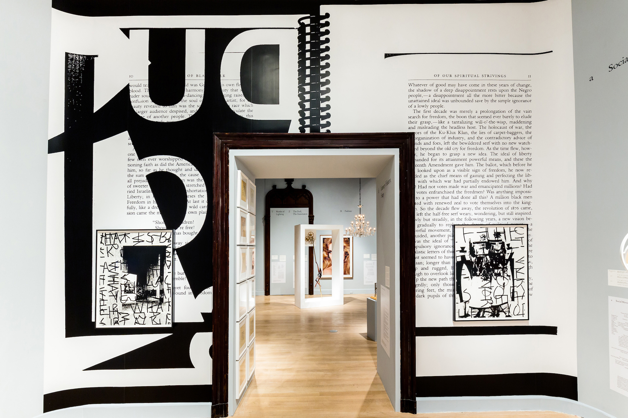 "Installation view of ""The Arcades: Contemporary Art and Walter Benjamin"""