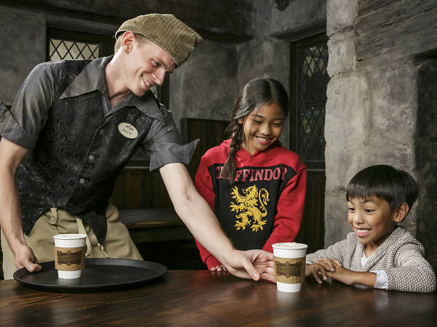 Hot Butterbeer at the Wizarding World of Harry Potter